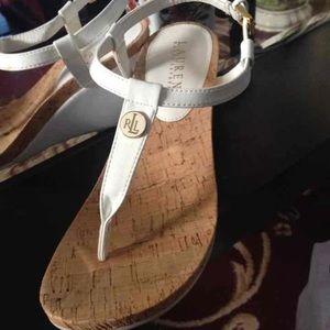 Ralph Lauren wedge sandals size 7